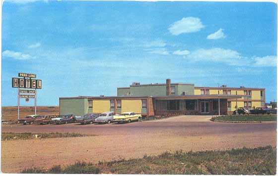 Park Lane Motor Hotel, on #1 Highway, Medicine Hat, Alberta, AB, Chrome
