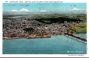 Washington Vancouver Looking Over Columbia River From Oregon Side Curteich