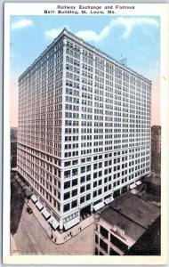 St. Louis, Missouri Postcard Railway Exchange & Famous Barr Building c1930s