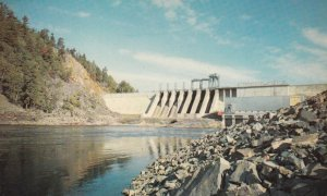 IRON BRIDGE, Ontario, Canada, 1950-60s; Red Rock Falls Hydro Dam