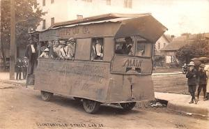Circus Post Card, Old Vintage Antique Postcard Clintonville Street Car Co Wau...