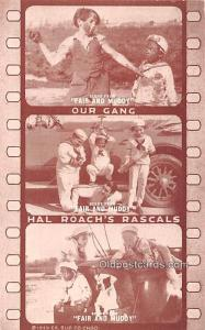 Our Gang, Hal Roach's Rascals Movie Star Actor Actress Film Star Unused