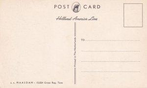 NETHERLANDS, 1950-1960s; Holland-American LIne, S.S. MAASDAM