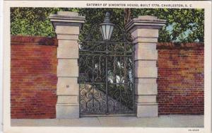 South Carolina Charleston Gateway Of Simonton House Built 1776 Curteich