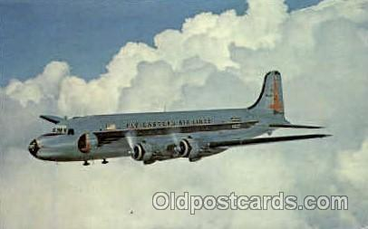 Eastern Airlines Douglas R5D-2 Skymaster Airplane, Airport Post Card, Post Ca...