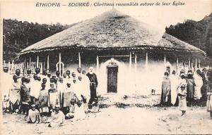 Ethiopia Sourre: Chretiens rassembles autour de leur Eglise, Church