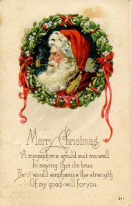Greeting - Christmas. Santa Claus, Red Suit