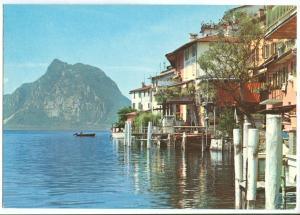Switzerland, Ticino Pittoresco, Gandria, Lago di Lugano, 1977 used Postcard