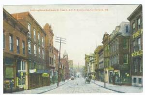 Cumberland MD Vintage Store Fronts Street View Postcard
