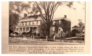 Connecticut  New London ,  Shaw Mansion , RPC