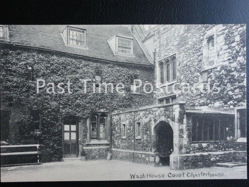 London SMITHFIELD The Charterhouse WASH HOUSE COURT Old Postcard by E.T. Bottom