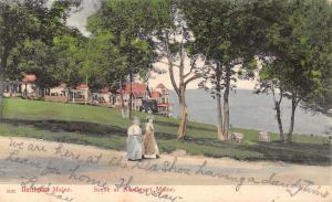 Northport Maine~Seashore Hotel~Victorian Girls~Having a Dandy Time~1906 Postcard