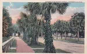JACKSONVILLE, Florida, 1910-1930s; Sidewalk On Second Street