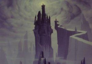 Sleeping Beauty Castle Tower Moonlight Walt Disney Film Postcard