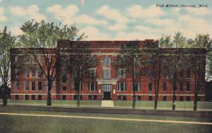 Exterior, High School, Jackson,  Michigan,   PU_1911