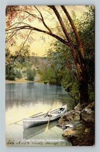 Dubuque IA-Iowa, Scenic Boat, Along the Catfish Creek, Vintage c1908 Postcard