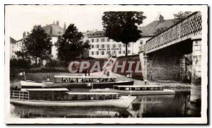 Modern Postcard Villers le Lac Hotel de France and boats for the Saut du Doubs