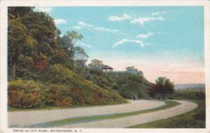 New York Watertown Drive In City Park 1924 Curteich