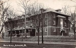 Ohio Postcard Real Photo RPPC 1909 ATHENS Boyd Hall Ohio University