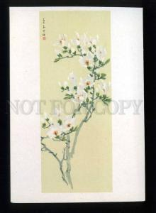 208706 CHINA Zhu Xue-mei orchid old postcard