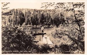 SASSAMASKIN RESERVE~RAT RIVER QUEBEC CANADA~REAL PHOTO POSTCARD 1940s