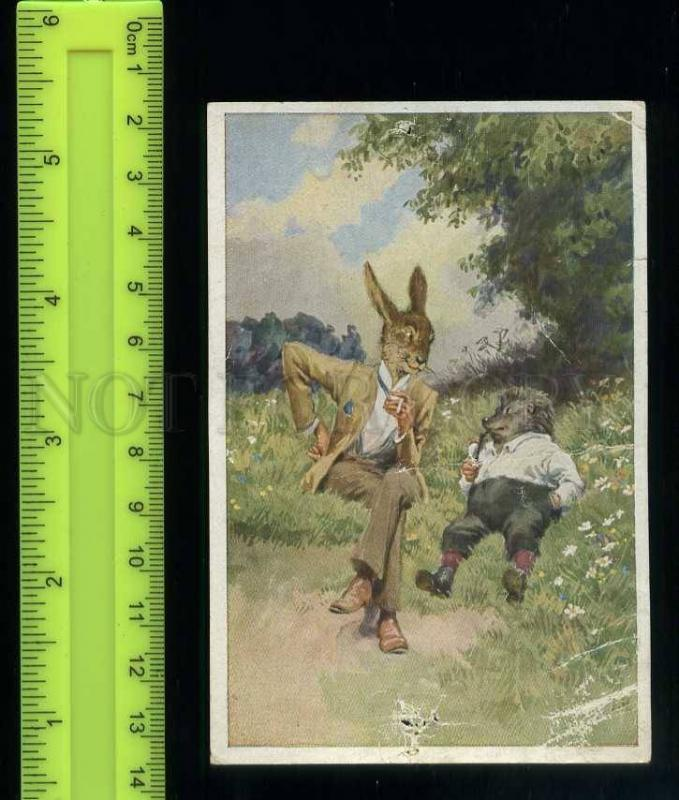 222424 Grimm Tale Hase Igel Hare Hedgehog Paul HEY Tobacco