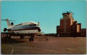 1960s Indianapolis Postcard WEIR COOK MUNICIPAL AIRPORT Eastern Airlines Plane