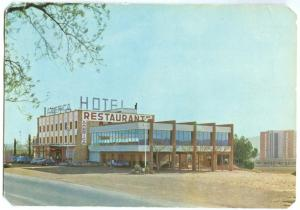 Spain, Hotel Bar Restaurant AMERICA, IGUALADA, 1960s unused Postcard