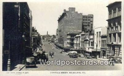 Australia Real Photo - Lonsdale Street Melbourne Melbourne Real Photo - Lonsd...