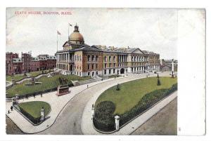 MA Boston State House Vintage UDB Bosselman Postcard c 1905