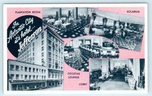 ATLANTIC CITY, New Jersey NJ ~ Interior JEFFERSON HOTEL Roadside c1950s Postcard