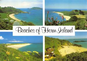 Herm Island Postcard, 1988 Beaches of Herm Island, Channel Islands Multi View P6