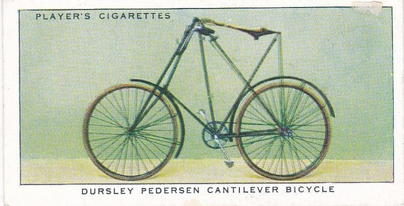 Cigarette Cards Players CYCLING No 26 Dursley Pedersen Cantilever Bicycle