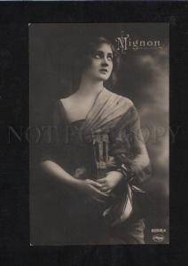 069510 Lady MIGNON w/ MANDOLIN vintage PHOTO