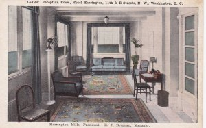 WASHINGTON D.C., 1910s-1920's; Ladies' Reception Room, Hotel Harrington