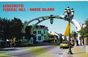 Rhode Island Providence Gateway Arch On Atwells Avenue