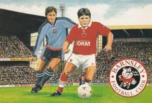 Barnsley Football Club 1997 Stadium Painting Postcard