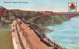 Boulevard, Niagara Falls, Ontario, Canada, Early Postcard, Unused