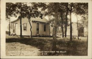 Mauston WI Cottages at Island Resort Real Photo Postcard