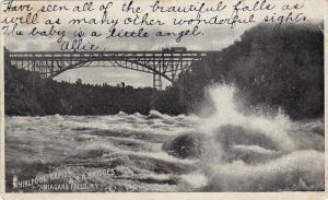 Whirlpool Rapids & R.R. Bridges, Niagara Falls, New York, PU-1904