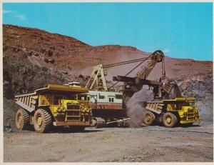 Loading Dump Trucks at Tom Price West Australia Postcard