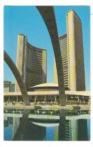 The City of Toronto's spectacular new City Hall,Pool,Toronto,Ontario,Canada, ...