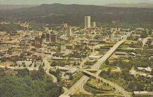 Aerial view of Business Section,  Greenville,  South Carolina,   40-60s