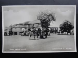 Ireland KILDARE Market Square - Old RP Postcard by L. Malone