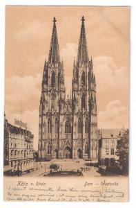 Koln Cathedral a Rhein Westseite Cologne Th Creifelds c1905