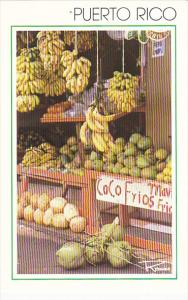 Puerto Rico Fresh Coconuts Fruit Stand