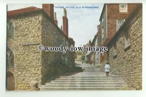 tp9585 - Kent - Old Almshouses by Bartholemew St. &  Steps, in Hythe - postcard
