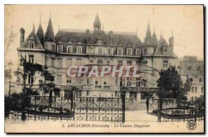 Old Postcard Arcachon Gironde Deganne the casino