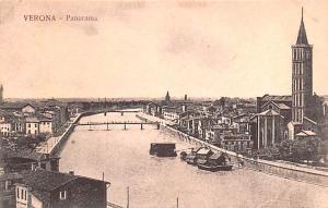 Italy Old Vintage Antique Post Card Verona Panorama Unused