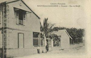 PC CPA NEW CALEDONIA, PACIFIC, NOUMÉA, RUE DE RIVOLI, Vintage Postcard (b19329)